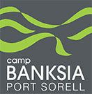 camp banksia port sorell logo