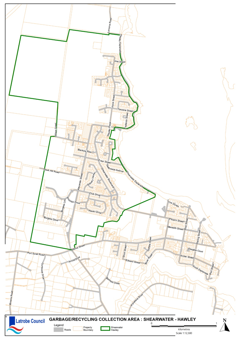 Garbage Collection Map Hawley