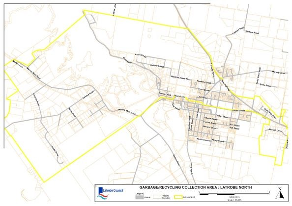 Garbage Collection Map Latrobe North